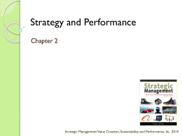 What is Strategy? - Strategic Management 3e