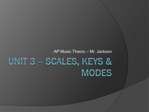 Unit 3 * Scales, Keys & Modes