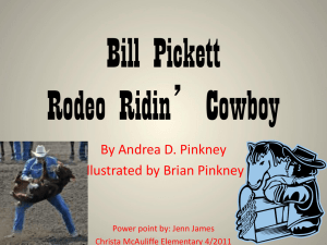 Bill Pickett Rodeo Ridin' Cowboy