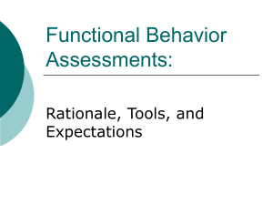Functional Behavior Assessment Powerpoint Presentation