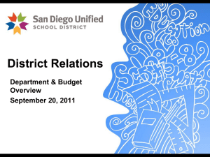 District Relations-Budget Presentations, 9-20