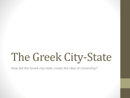 Greece - City-States and Political Changes
