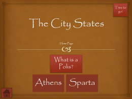 The City States Webquest