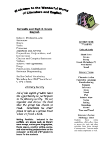 Syllabus 2015 - Holy Family School