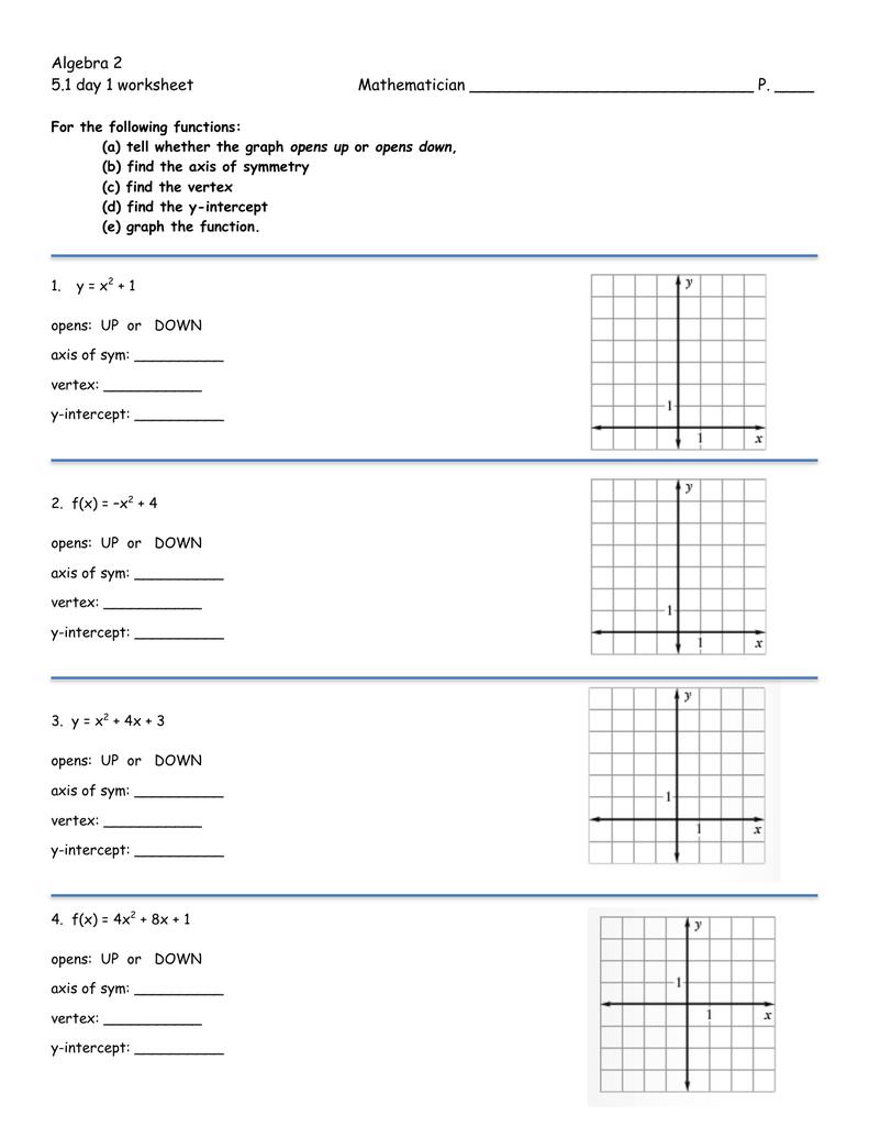 5.1 day 1 worksheet - Moline High School