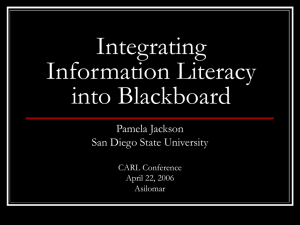 Integrating Information Literacy into Blackboard - Rohan