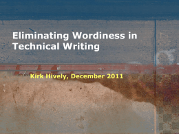 How to Eliminate Wordiness