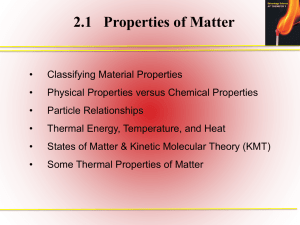 2.1 Properties of Matter