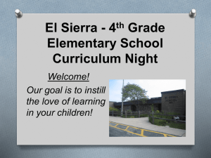 Curriculum Night Presentation - Downers Grove Grade School