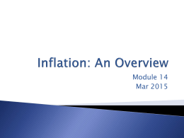Inflation: An Overview
