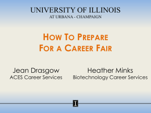 How To Prepare For a Career Fair - University of Illinois at Urbana