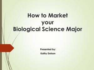 How to Market Your Bio Major