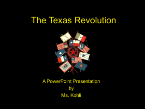The Texas Revolution