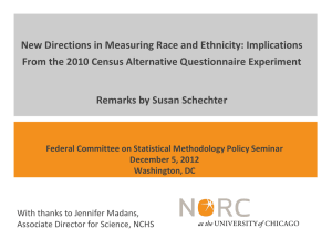 New Directions in Measuring Race and Ethnicity