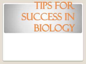Biology Study Tips - North Allegheny School District