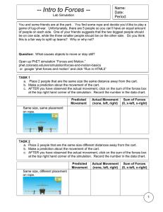 Activity: Phet Forces and Motion Basics
