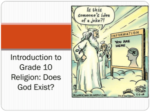 Introduction to Grade 10 Religion