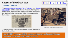 Causes of the Great War - Baltimore County Public Schools