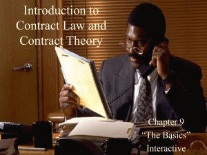 Introduction to Contract Law and Contract Theory