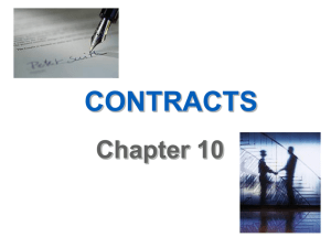 Business and the Law of Contracts--Chapter 8 Pennzoil v. Texaco, p