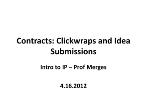 Clickwrap Contracts