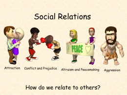 Social Relations - AP Psychology Community