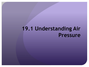 19.1 Understanding Air Pressure What is Air Pressure?
