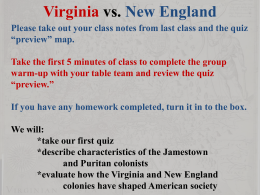 Virginia vs. New England