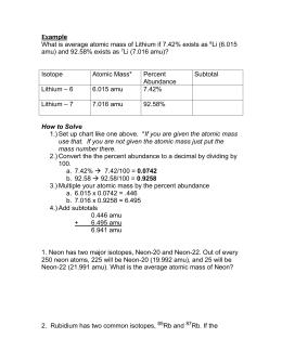 Worksheets Atomic Mass Worksheet average atomic mass worksheet mass