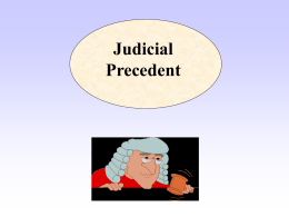 Stare decisis and techniques of legal reasoning and legal argument