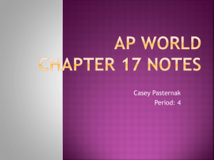 AP world Chapter 17 notes
