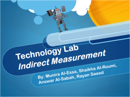 Technology Lab Indirect Measurement - MsDeAnne-BBS-Math