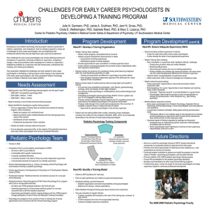 Challenges for Early Career Psychologists in Developing a