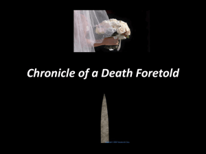 Chronicle of a Death Foretold
