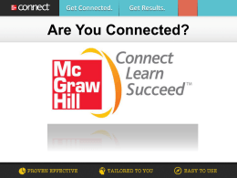 Connect Chemistry - McGraw Hill Higher Education