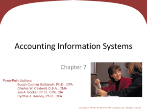Accounting information systems collect and process data from