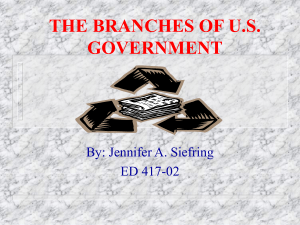 the branches of us government