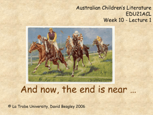 Post-colonial Literature for Children EDU32PLC Week 9