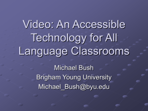 Video: An Accessible Technology for All