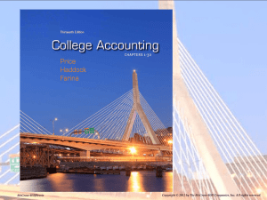 Job Order Cost Accounting System
