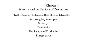 scarcity and the factors of production quiz answer key
