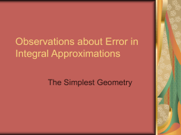 Errors in Trapezoidal Approximation