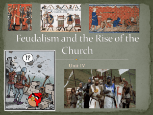 Feudalism and the Rise of the Church