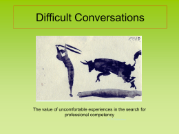Difficult conversations a productive approach