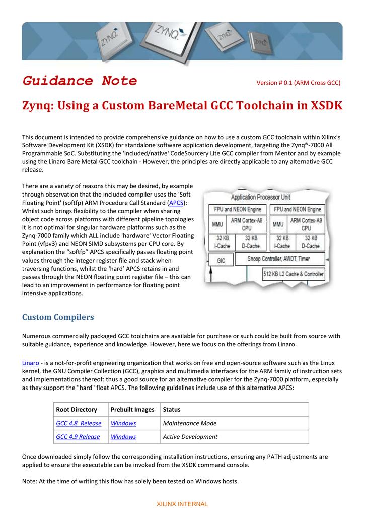Zynq - Using a Custom BareMetal GCC Toolchain in XSDK