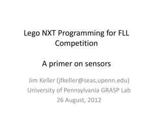 FLL Sensor Training - GRASP lab