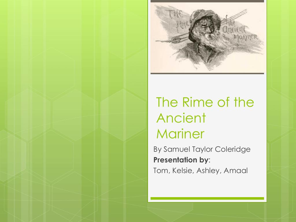 The Rime Of Ancient Mariner Part V Summary