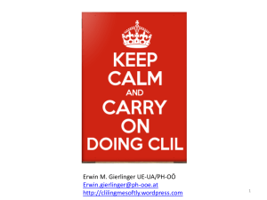 Keep CALM and carry on doing CLIL