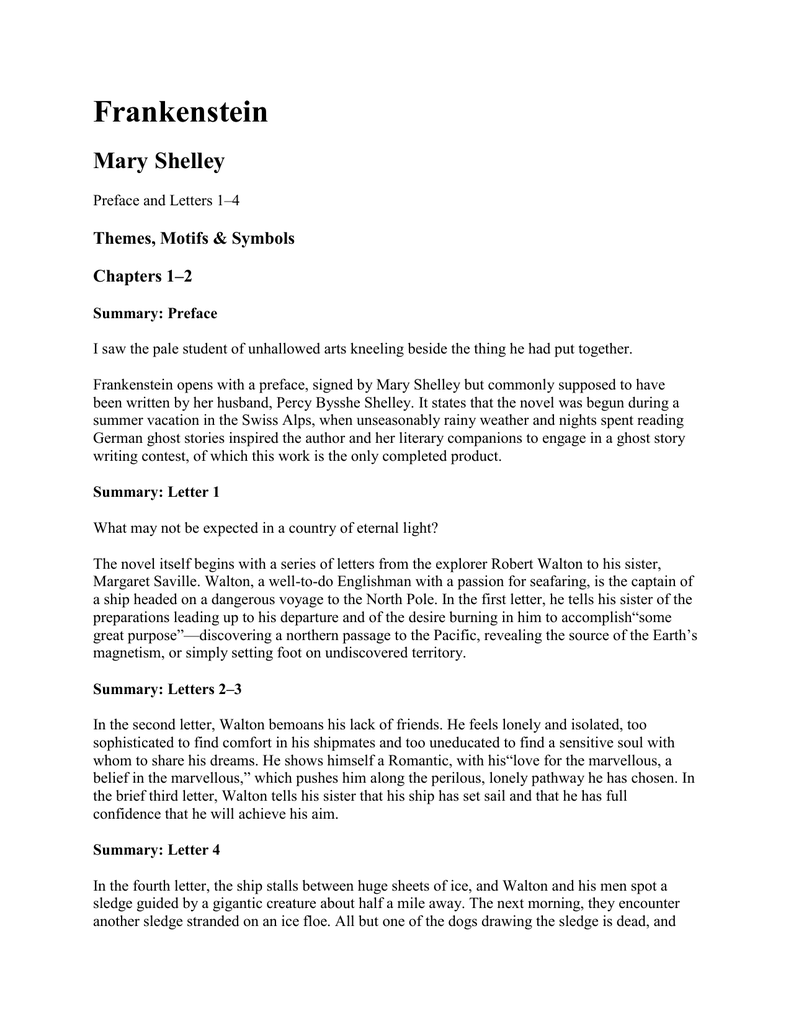 frankenstein letters summary frankenstein letter 4 summary how to format cover letter 37979