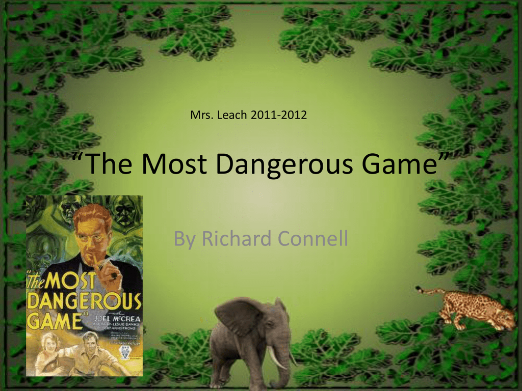 the most dangerous game essays Free the most dangerous game papers, essays, and research papers.